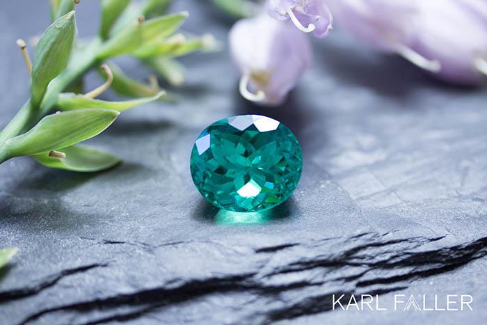 Karl Faller, Kirschweiler, Stand H1.104 Colombian Emerald, no oil, 21,68 ct.