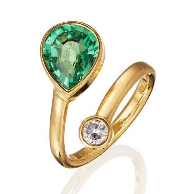 Ulrike Weyrich - Turmalin, Brillant Ring GG 750