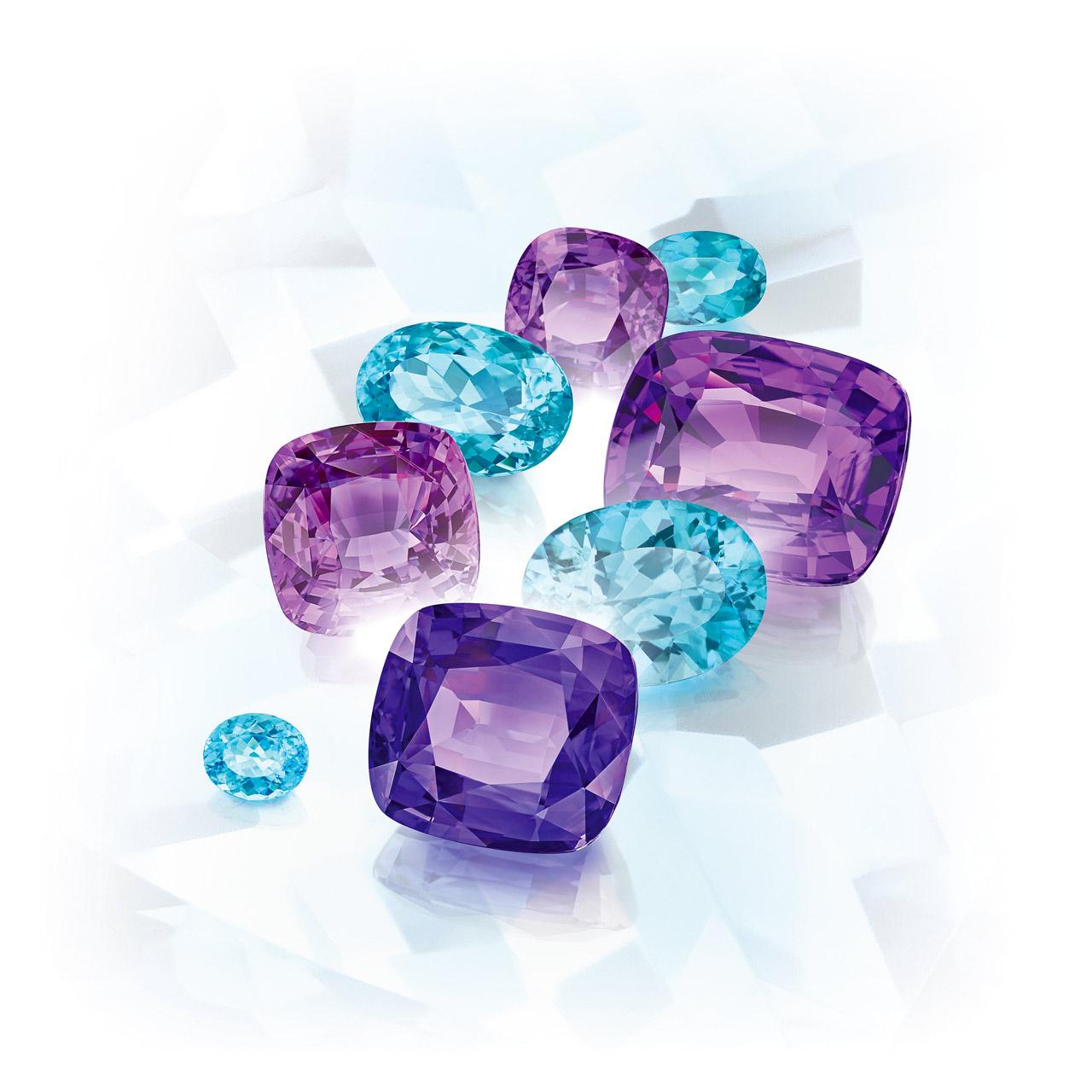 Constantin Wild - Fine Gemstones - Purple Sapphire, Paraiba Tourmaline