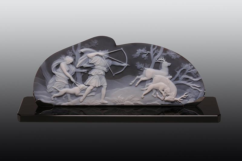 Roth Cameo, Idar-Oberstein, Stand H2.303b, Artemis auf Hirschjagd